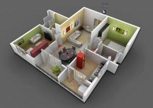 3D Rendering Floor Plan